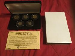 Catholic Vatican City Holy See Pope 5 Coin Lira Coin Set 2001