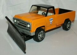 Rare 1972 Tonka Automobile Club Private Label Toy Pick Up Truck With Snow Plow