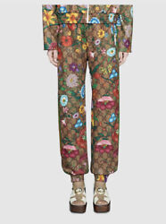 New Jersey Gg Logo Flora Floral Track Pants Small