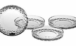 European Crafted Cut Crystal Coasters 4.25diameter Superb Quality