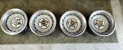 Chevy Truck Rally Wheels 5 Lug 15x8 C10 With Caps And Rings Refurbished
