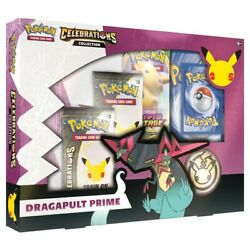 Pokemon Celebrations Dragapult Prime Collection 25th Anniversary - Ships 10/8