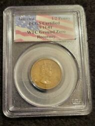 1964-jamaica 1/2 Penny Pcgs Certified 9-11-01 Twin Towers Ground Zero Recovery