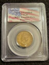 1966-jamaica 1/2 Penny Pcgs Certified 9-11-01 Twin Towers Ground Zero Recovery