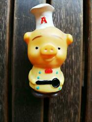 Used Soft Vinyl Figure Acecock's Little Doll Piggy Bank Limited Extremely Rare