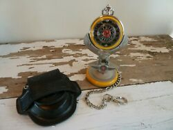 Harley Davidson Yellow Fat Boy Pocket Watch New From The Franklin Mint