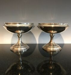A Pair Of Antique Black Starr And Frost Sterling Silver Compotes