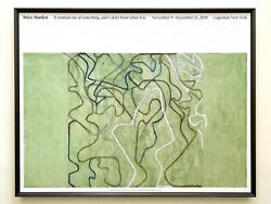 Brice Marden Lithograph Print Abstract Expr Framed Exhbt Poster Elevation 2019