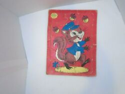 Built Rite Toys Sta-n-place Furry Inlaid Child's Tray Puzzle 126 Squirrel Acorn