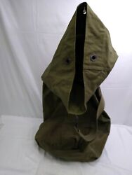 Vintage United States Army Usa Green Canvas Duffle Bag Military Named Roark