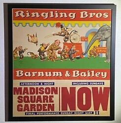 Ringling Bros And Barnum And Bailey Original Lawson Wood Circus Poster Framed