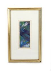 Small Vintage Modern Art Abstract Oil Painting Signed by Artist
