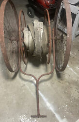 Antique San Francisco Fire Hose And Reel