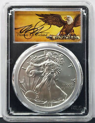 2019-w 1 Burnished Silver Eagle Pcgs Sp70 Fdoi Edit Of 10,000 Signed T.clevelan