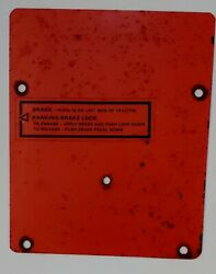 Original - Case Ingersoll 448 Tractor Mower Dash Tower Cover Plate
