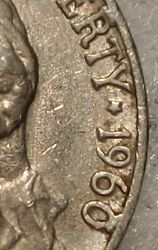 Very Rare 1960d Jefferson Nickel Error 0and R Is Filled In At Top Collectible Coin