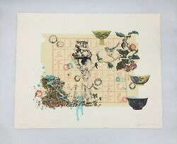Hung Liu Children At Work Boy With Pots 7-color Lithograph 45/75 2000