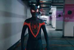 Ps5 Miles Spiderman High Quality Reflective Material 3d Coating Line Suit Cos
