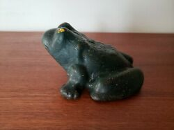Antique Cast Iron Frog Door Stop -webster Wagon - I Croak For The Jackson Wagon