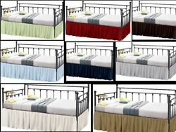 Luxury Quality Ruffle Bed Skirts For Day Bed With Split Corner Twin Size 16drop