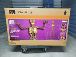 12 Foot Giant Inferno Pumpkin Skeleton W/lcd Eyes Sold Out New And Free Shipping