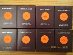 Complete Run 1986 - 2021 Proof American Silver Eagle Eagles Collection 40 Coins