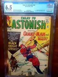 Tales to Astonish #52 CGC 6.5 OW White Pages 1st Black Knight Appearance 1964