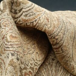 Vintage Tapestry Fabric 4 ft 54 in upholstery paisley beige gold brown boho