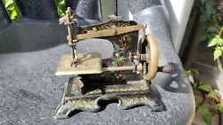 Antique German Toy Sewing Machine Circa 1920s Muller 11 Works Great