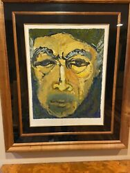 Anthony Quinn Hand Signed Self Portrait Glance In The Mirrorandrdquoserigraph Numbered