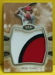 2020 Topps Tier One Mike Trout Prodigious Jumbo Patch Jersey 10/10 Sick Patch 💪