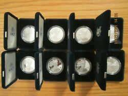 Complete Run 2000 - 2021 Proof American Silver Eagle Eagles Collection 26 Coins