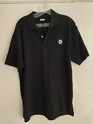 THE WHO LARGE MENS MOD POLO SHIRT Official Quadrophenia Rocker Black Fred Perry $14.99