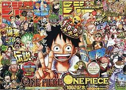 Weekly Shonen Jump No.3-4 And 5-6 2021 One Piece 999 And 1000 W/ Big Poster New Rare