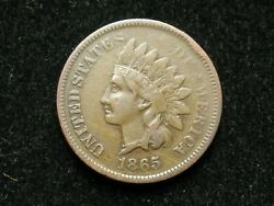 2021 Sale Vf-xf 1865 Indian Head Cent Penny W/ Diamonds And Full Liberty 28g