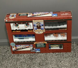 North Pole Express Christmas Animated Musical Train Set Vintage 1996 Preowned