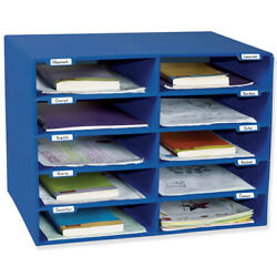 Classroom Keepers Mail Box - 10 Mail Slots Blue