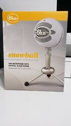 Blue Snowball Usb Microphone Textured White - Brand New