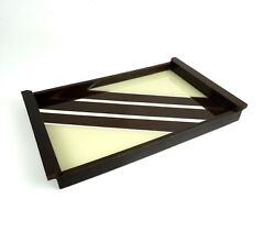 Original French Avantgarde Art Deco Geometric Cocktail Tray About 1930