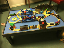 Thomas The Train Wooden Table With Huge Lot Of Accessories