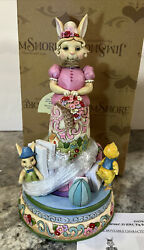 Jim Shore Easter Blessings Go Around Bunny Rabbit Chick Goose 4056847 Rotates
