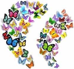 PARLAIM 104PCS Butterfly Wall Decals for Wall 3D Butterflies Wall Stickers Remov