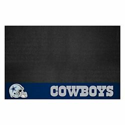 Grill Mat Dallas Cowboys Vinyl Oil Flame Uv Resistant 26 X 42 Inches By Fanmats