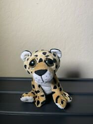 The Petting Zoo Baby Leopard 7quot; Plush Cat Stuffed Animal Toy Big Brown Eyes