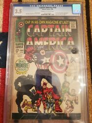 Captain America #100 CGC 3.5 comic book 1st issue Black Panther appearance