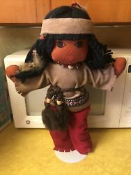 Suzy Belle Native American Indian Girl Doll With Stand