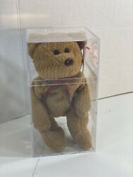 Rare Retired Ty Beanie Baby Curly The Bear Many Errors Mint Condition. Pvc Pel