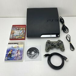 Sony Playstation 3/ps3 Slim 320gb Video Game Console Bundle-cech-2501b Tested