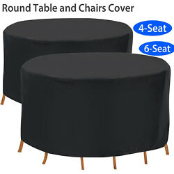 Patio Table And Chair Set Cover Premium Outdoor Round Furniture Cover Waterproof
