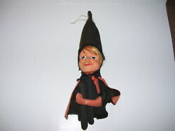 Vintage Antique Halloween Holiday Knee Hugger Witch